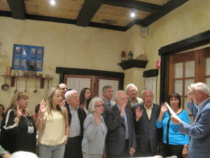 Swearing in of new members to the Order of Knights and Ladies of Sparta